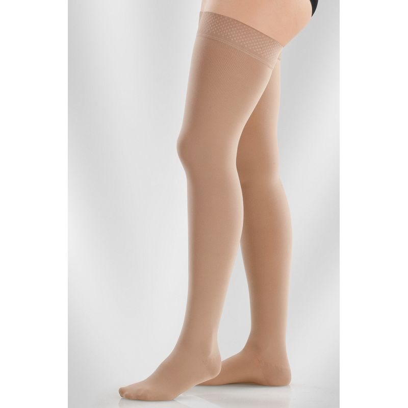 45173506f1 Juzo Dynamic Class 2 Black Pepper Thigh High Compression Stockings ...