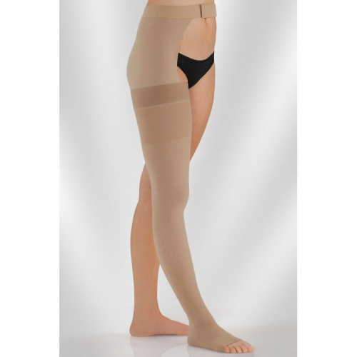 6d2c34aee1f Juzo Dynamic Class 2 Sesame Thigh High Compression Stocking with ...