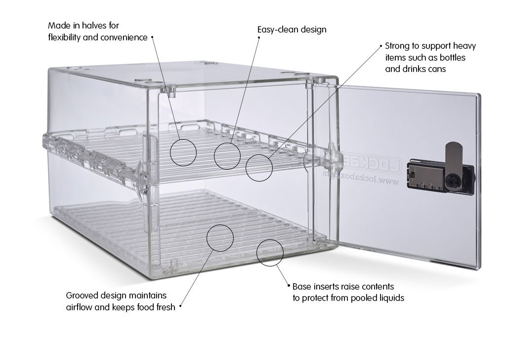 Lockabox Shelves and Airflow Inserts