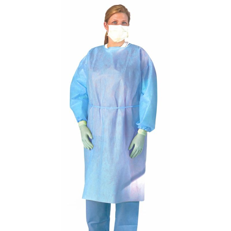 Medline Multi-Ply Fluid Resistant Isolation Gown (Pack of 100 ...