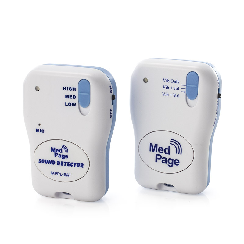 Medpage Sound Activated Transmitter with Tone and Vibration Alert Pager