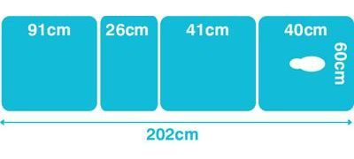 Dimensions based on the Metron Elite Traction Therapy Couch Electric 60m width model