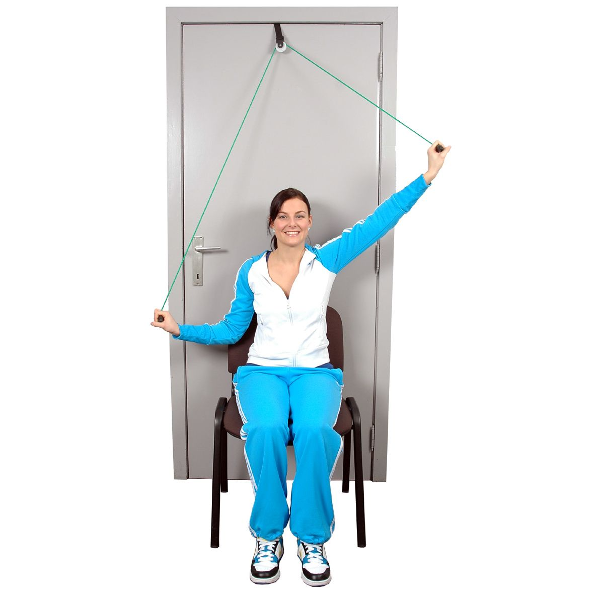 Rehabilitation Exercise MSD MoVeS Shoulder Rope Pulley with Over Door Anchor
