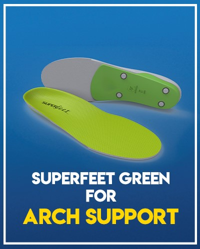 Superfeet Green Performance Insoles - Our Pick for Arch Support