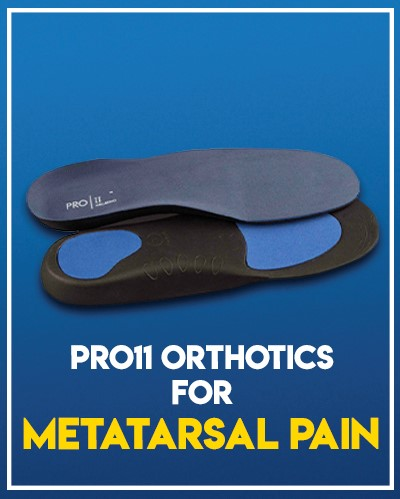 Pro11 Insoles with Metatarsal Pad and Arch Support - Our Pick for Metatarsal Pain