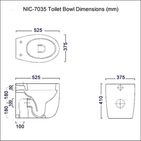 NIC-7035 Dimensions