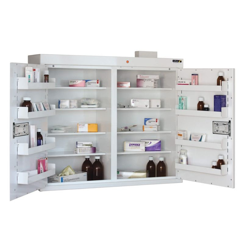 Sunflower Medical Double Door Medicine Cabinet 85 X 100 X 30cm With
