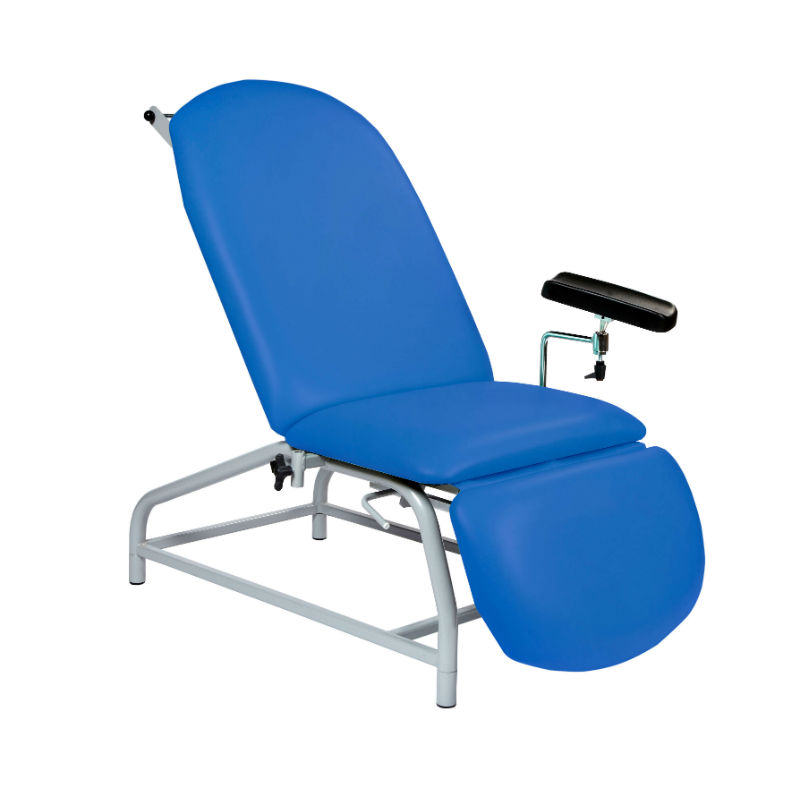 Superb Sunflower Medical Mid Blue Fusion Fixed Height Phlebotomy Chair With Adjustable Feet Theyellowbook Wood Chair Design Ideas Theyellowbookinfo
