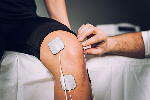 TENS therapy is also a great remedy for sports injuries such as knee pain or tennis elbow