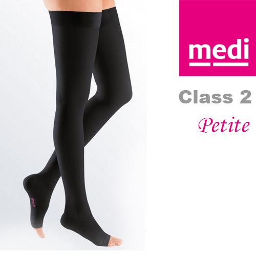 b83a66de2b0144 Medi Mediven Plus Class 2 Black Thigh Petite Compression Stockings ...