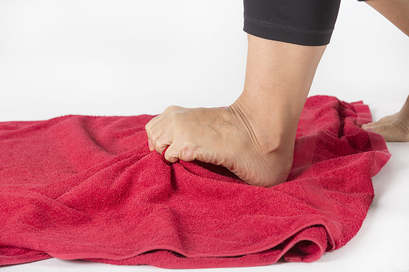 Towel Curls for Bunions