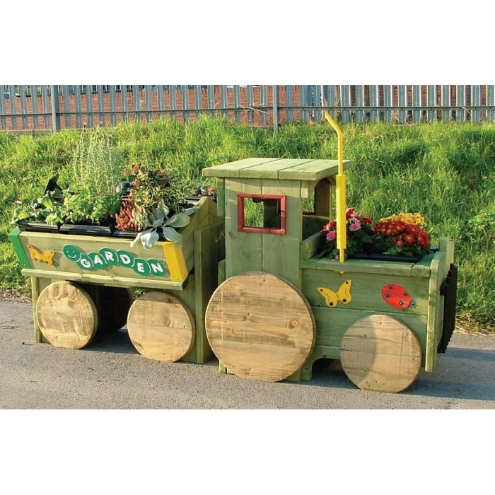 Garden Tractor Flower Bed Planter Trough Sports Supports