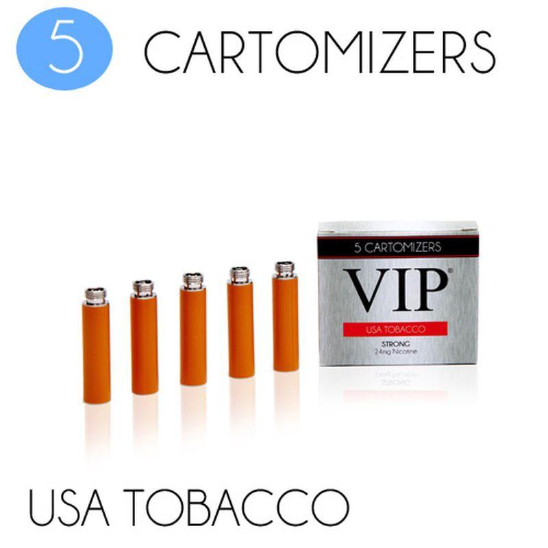 VIP Electronic Cigarette USA Tobacco Zero Strength E-Liquid Cartomisers