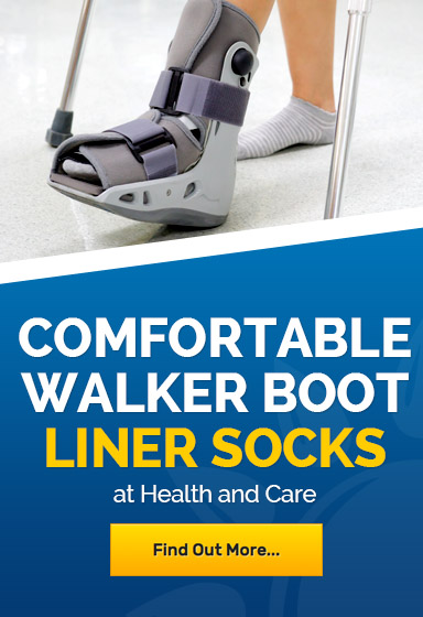 Liner socks for walker boot comfort