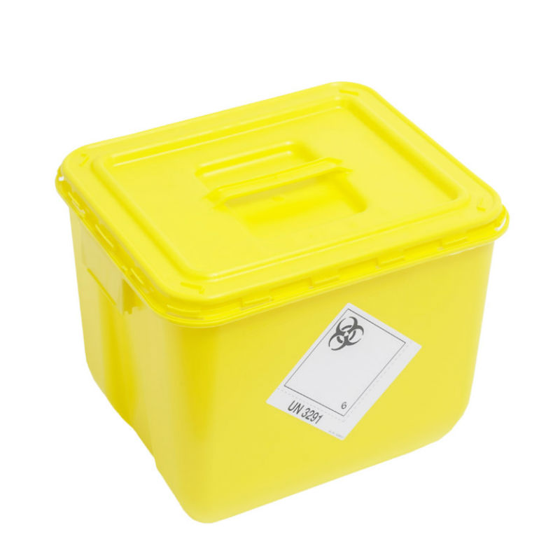 Wiva Yellow 30 Litre Clinical Waste Container Sports