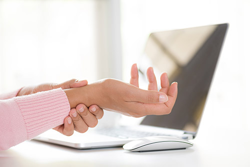 Wrist conditions like carpal tunnel syndrome and tendonitis are common in office jobs