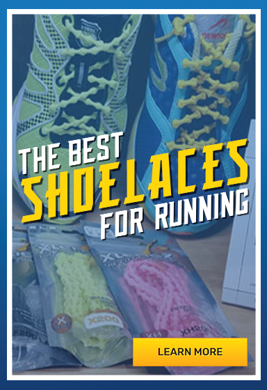 No-tie Xtenex shoelaces for running
