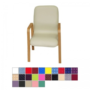 Medi-Plinth Deluxe Wooden Waiting Room Chair with Armrests