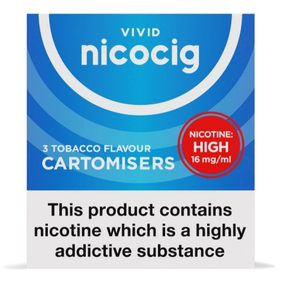 Vivid Nicocig Refill Cartridges High Strength Tobacco Cartomisers