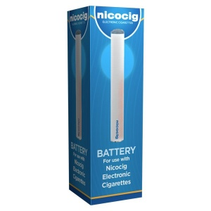 Vivid Nicocig Rechargeable Electronic Cigarette Spare Battery Blue LED Tip