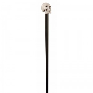 Silver-Plated Skull Cane