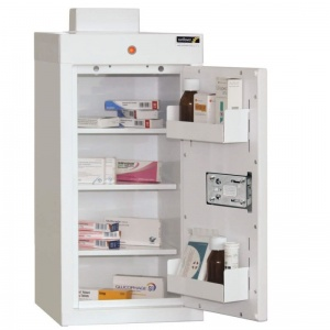 Sunflower Medical Medicine Cabinet 60 x 30 x 30cm with Three Shelves and Two Door Trays