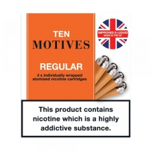 10 Motives E-Cigarette High Strength Regular Tobacco Refill Cartridges