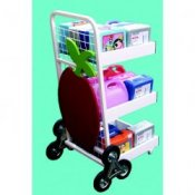24 Lunch Box Stair Climbing Storage & Transportation Trolley