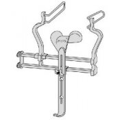 Balfour Abdominal Retractor With Centre Blade And Fenestrated End Blades 63mm Deep X 35mm Wide