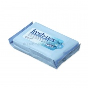 Fresh-Ups Menthol and Eucalyptus-Scented Moist Wipes (Pack of 20)
