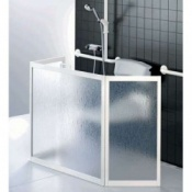 Portable Three-Panel Shower Screen