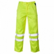 Supertouch Hi-Vis Polycotton Trousers with Ankle Band - Yellow (20 Trousers)
