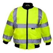 Supertouch Hi Vis Junior Bomber Jackets - Knitted Collar  (10 Jackets)