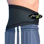 4Dflexisport® Black Lumbar Support Belt with Black Side Pulls