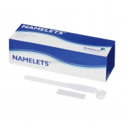 Namelets White Insert-Style ID Bracelets for Children (Pack of 100)