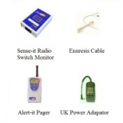 Alert-it Radio Sense-it Enuresis Monitor Base System with Pager