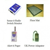 Alert-it Radio Sense-it Monitor System with Pager & Floor Mat