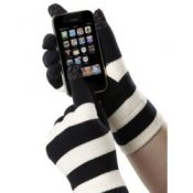 Touchscreen Gloves Isotoner Smartouch - Ladies Black & Ivory