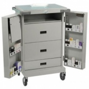 Bristol Maid Double Door Drawers and Shelf Dispensing Trolley