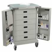 Bristol Maid Double Door Six Drawer Dispensing Trolley