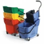 Bristol Maid Hi Bak Bucket and Wringer Mopping Trolley