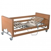 Casa Med Classic FS Beech Profiling Bed with Side Rails and Wooden Slats