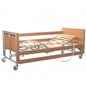 Casa Med Ultra FS Beech Profiling Bed with Side Rails and Wooden Slats