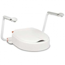 Etac Hi-Loo Fixed Toilet Seat Raiser with Arm Supports