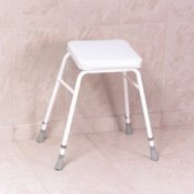 Malvern Vinyl Seat Perching Stool - Adjustable Height Stool