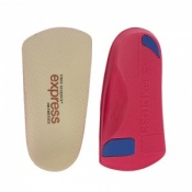 Express Orthotics Hard Density Red 3/4 Length Insoles