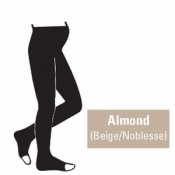 Juzo Attractive 18-21mmHg Almond Maternity Compression Tights with Open Toe