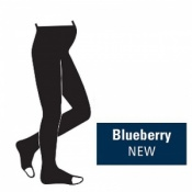 Juzo Attractive 18-21mmHg Blueberry Maternity Compression Tights with Open Toe