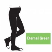 Juzo Attractive 18-21mmHg Eternal Green Maternity Compression Tights with Open Toe