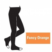 Juzo Attractive 18-21mmHg Fancy Orange Maternity Compression Tights with Open Toe